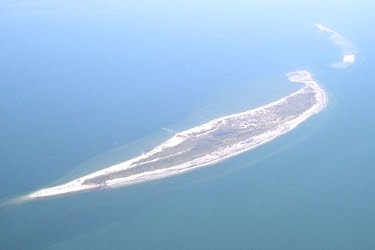 Aerial shot from Ship Island, Mississippi