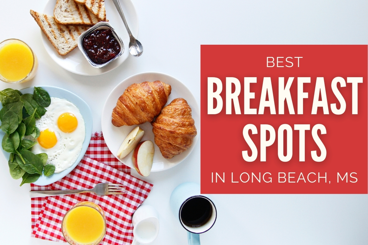 Breakfast dishes with eggs, croissants, etc. - Best Breakfast Spots in Long Beach, MS