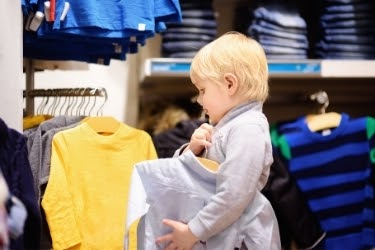 Kid shopping clothes