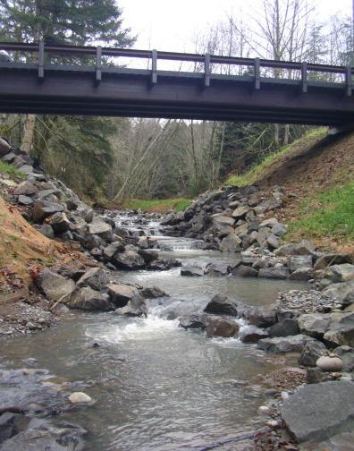 This bridge replaced a culvert in 2008
