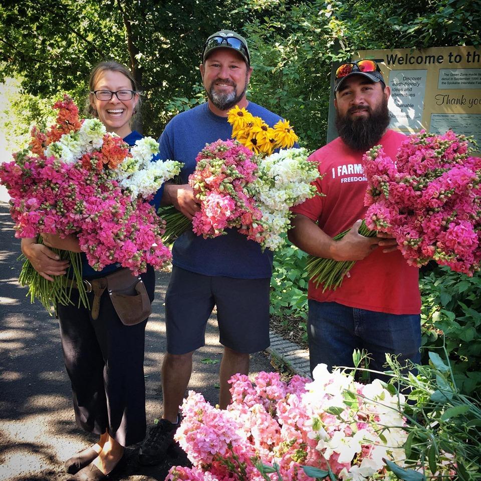 Cheerful members of the South Spokane Farm Corridor