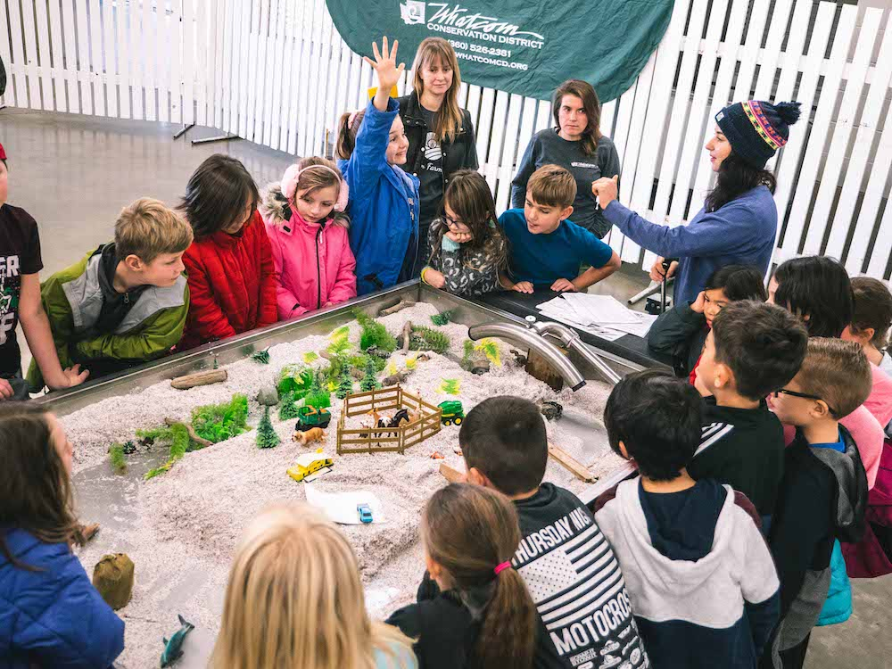 The Whatcom Explorer: Mobile Watershed is a hands-on educational tool that allows participants to connect with their local watershed and examine the natural movement of streams and rivers