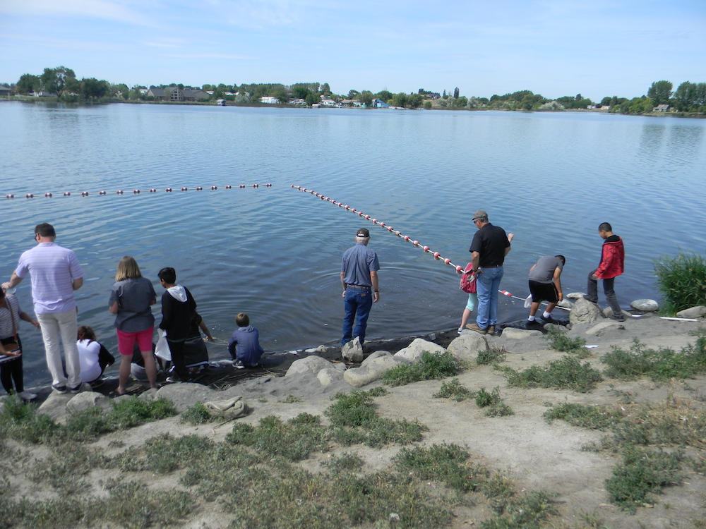 Annual Trout Release Day for area elementary schools