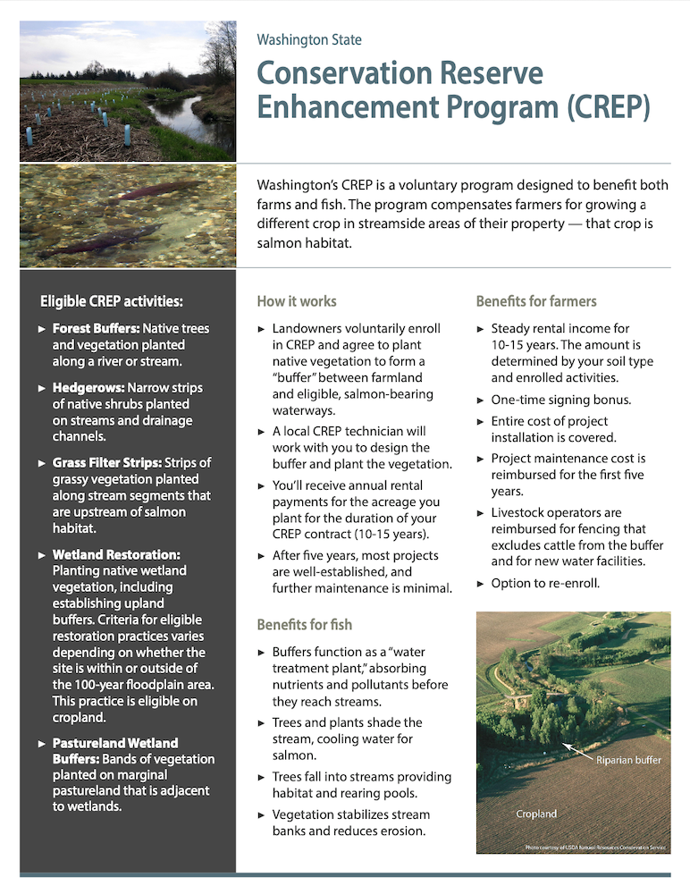 Conservation Reserve Enhancement Program (CREP) for Landowners