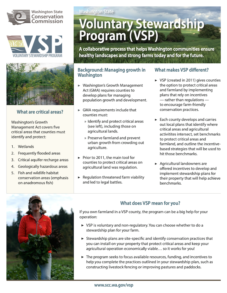Voluntary Stewardship Program (VSP) for Landowners
