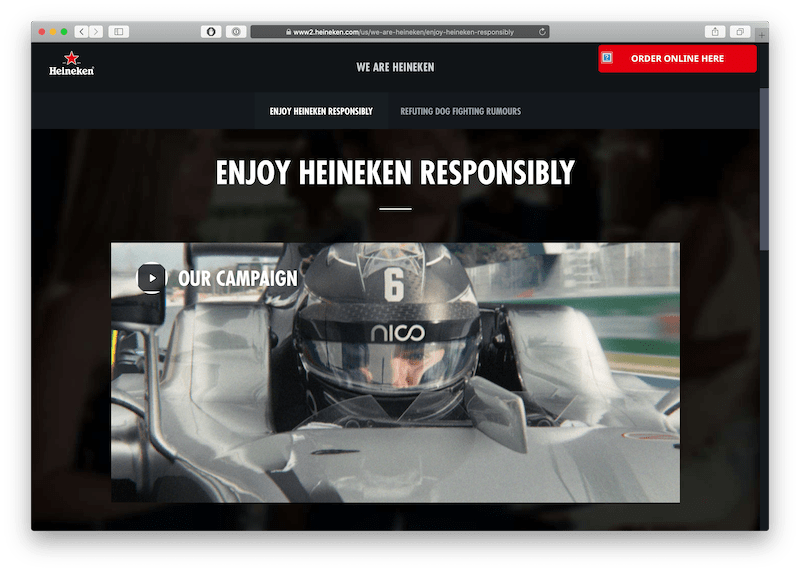 heineken video campaign as a service