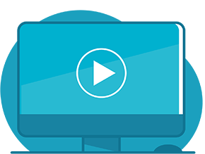Screen vector with play button
