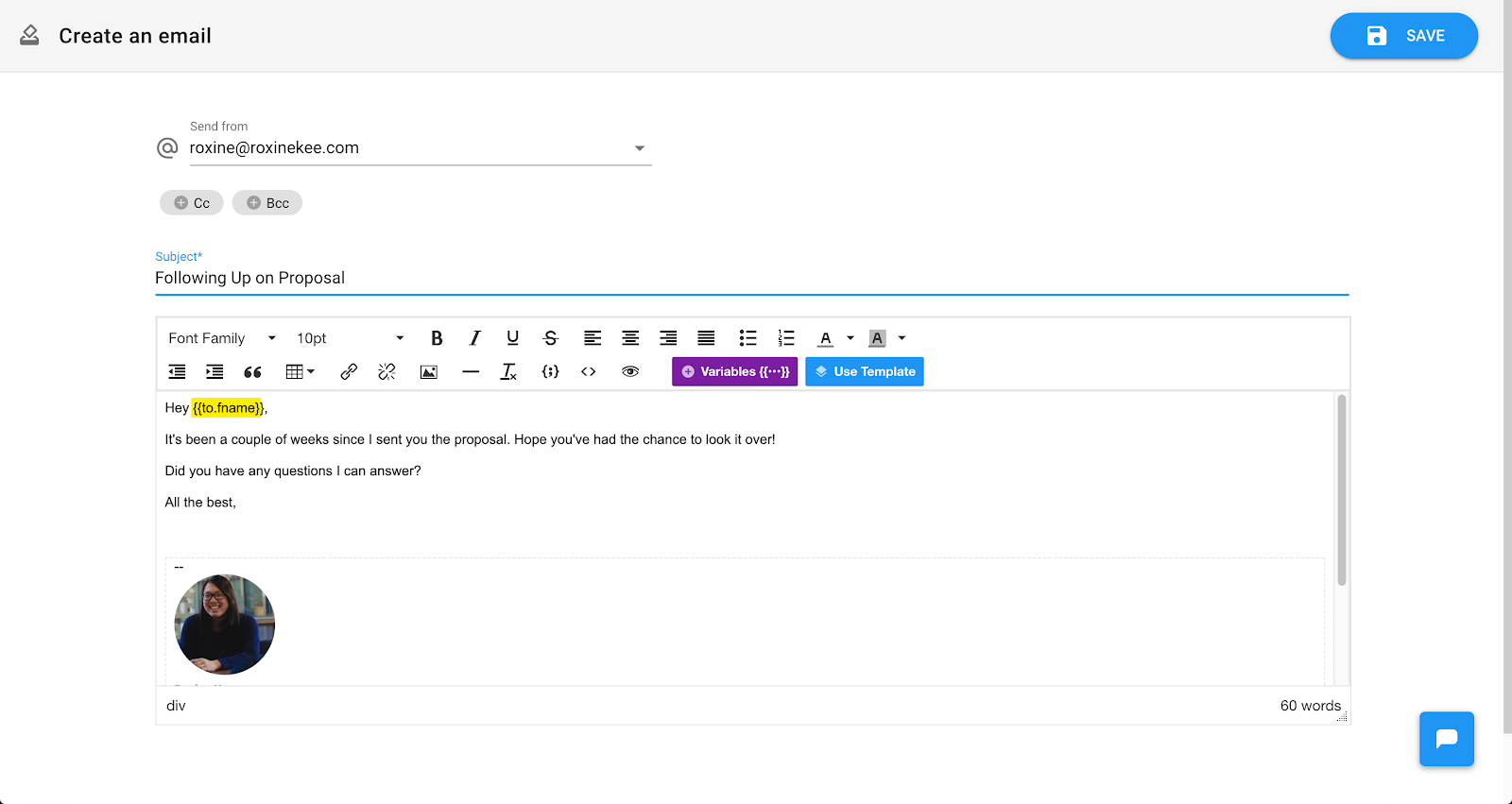 Email Automation: You can easily personalize the email with someone's name.