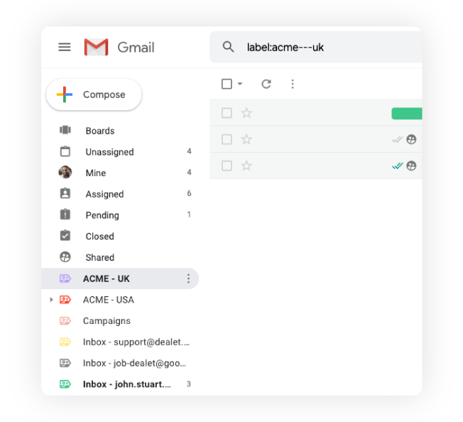 Gmelius lets you put each clients emails into their own folder, making it easy to see everything at a glance.