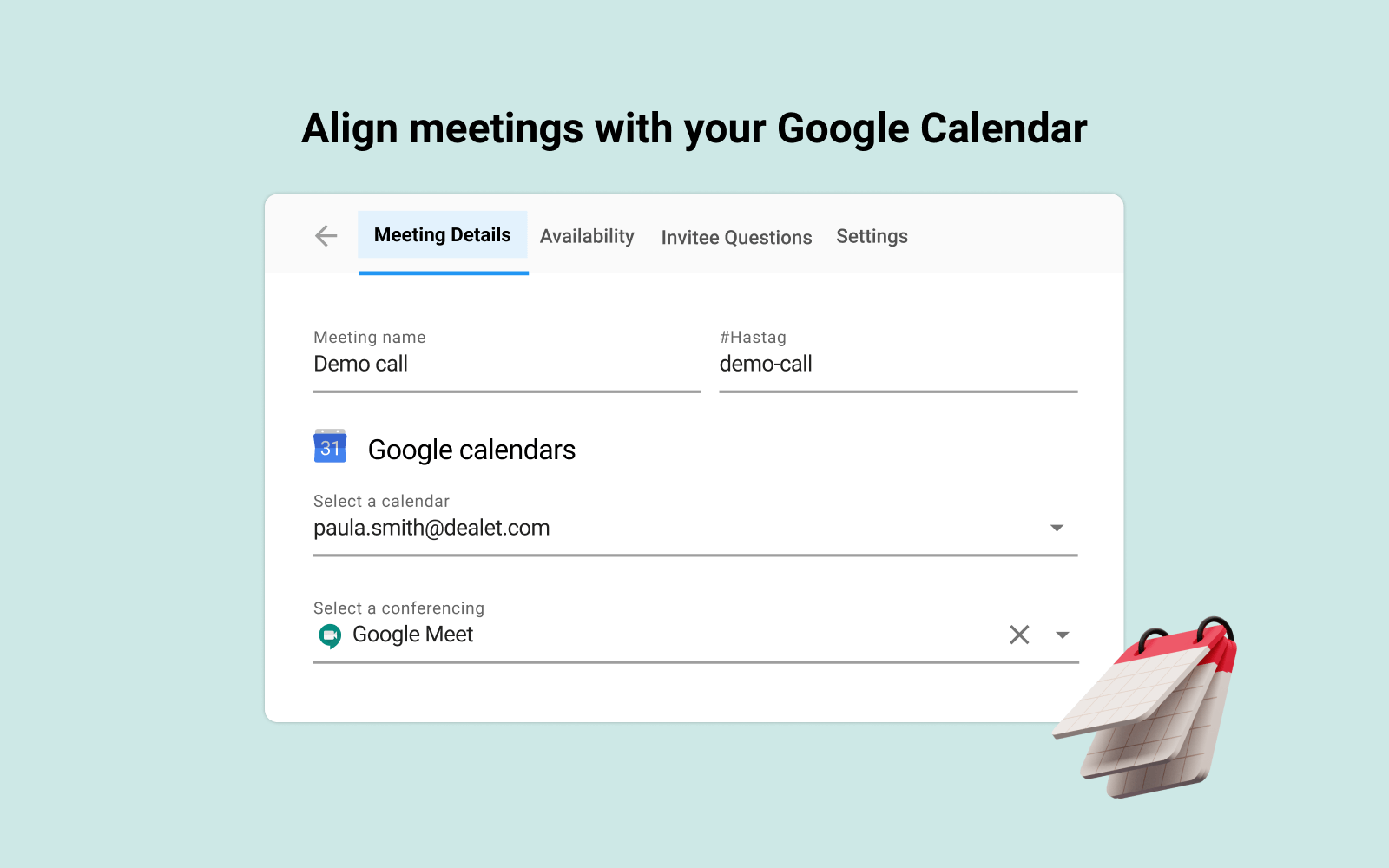 Sync Gmelius Meeting Scheduler with Google Calendar