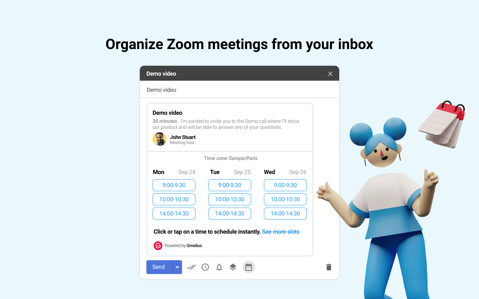 Schedule Zoom meetings inside Gmail