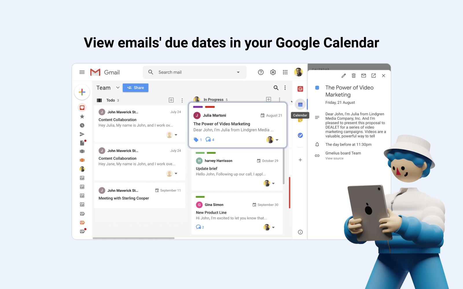 Fixer les dates d'échéance email avec Gmelius