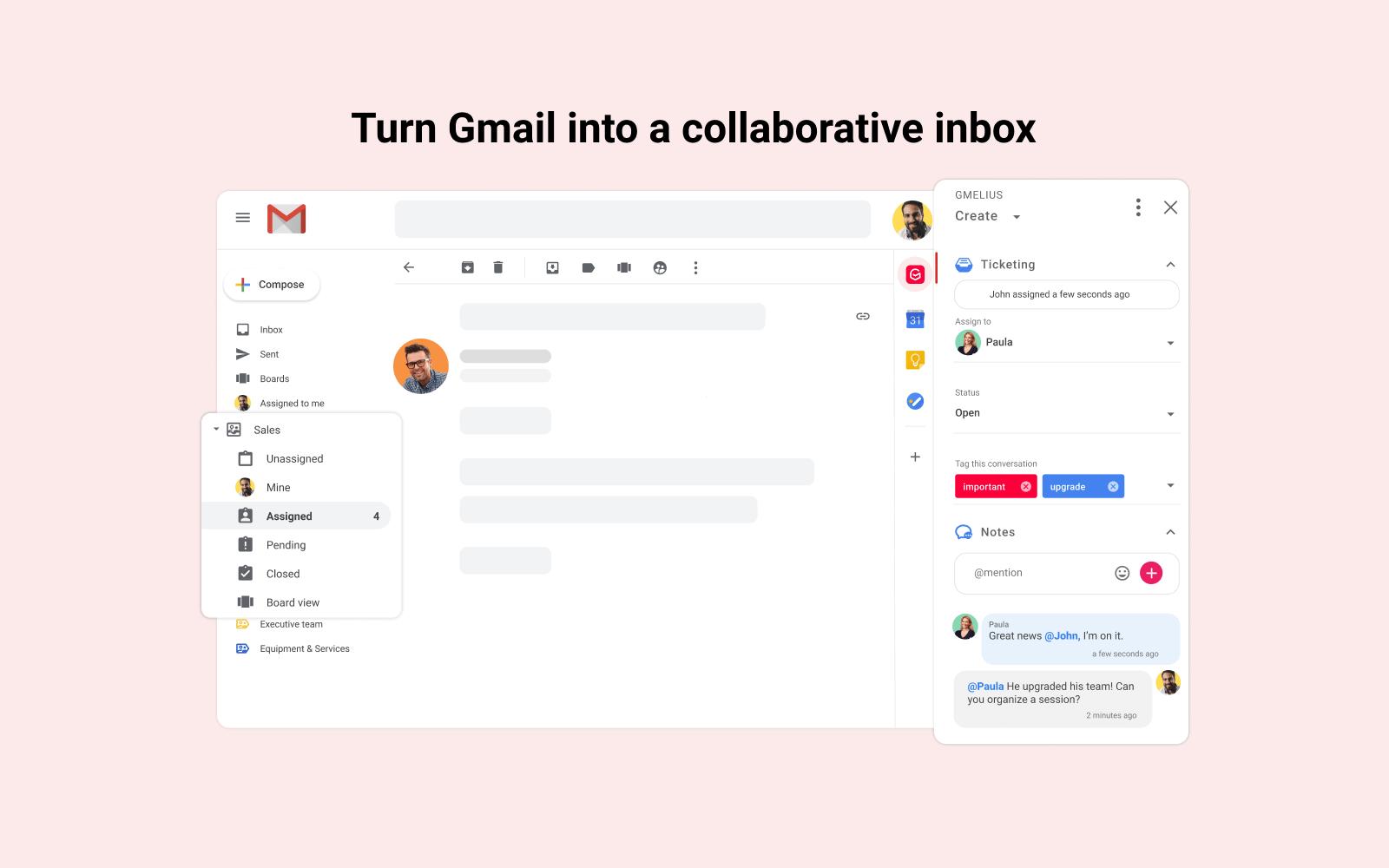 Transform Gmail into a collaborative inbox