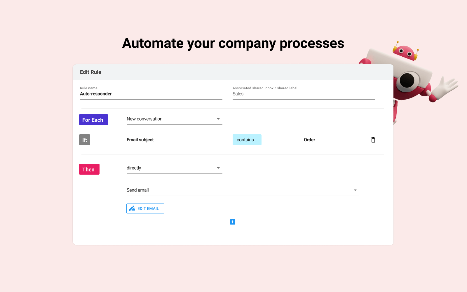 Workflow automation rools for Gmail