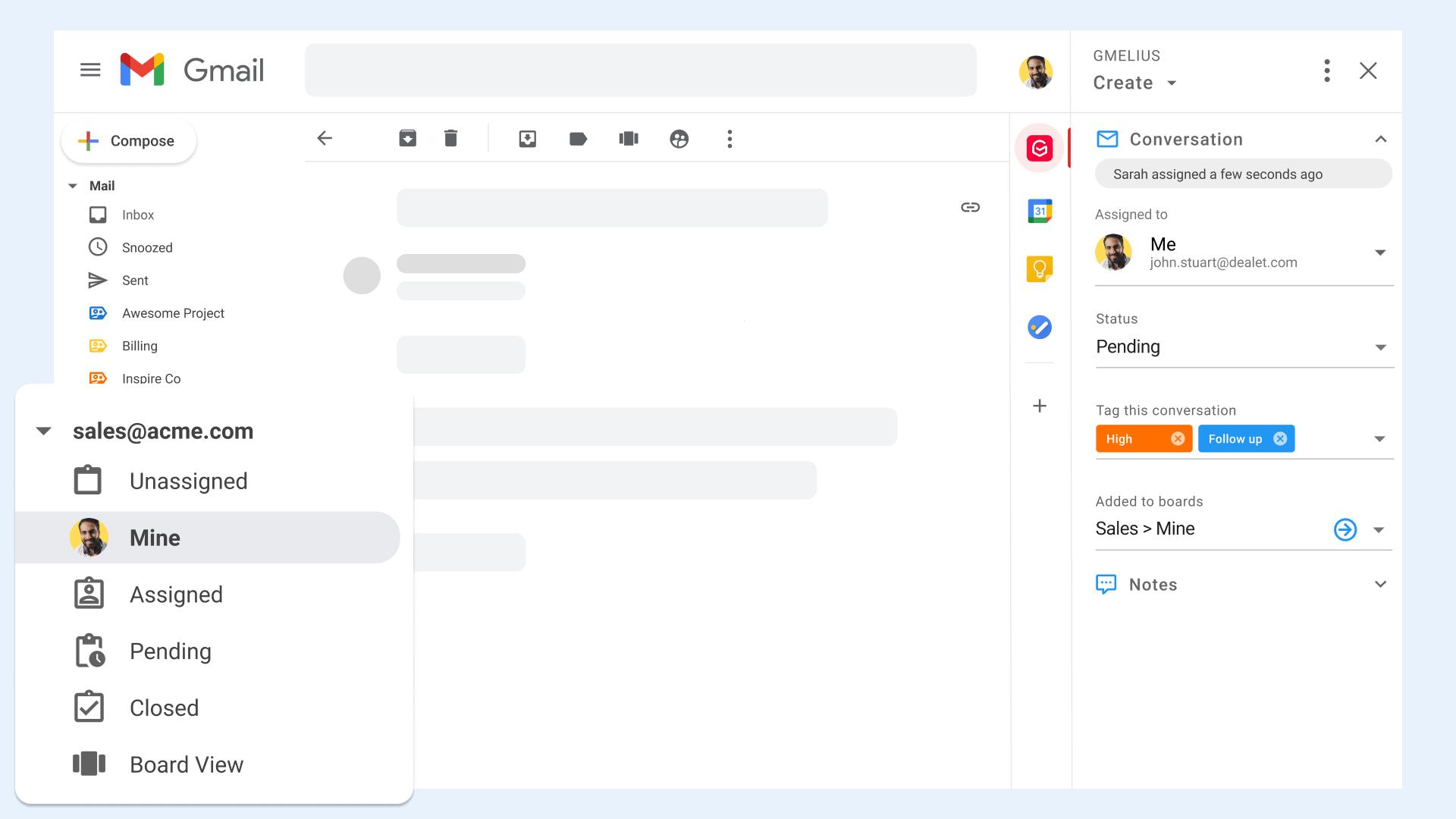 Shared Inbox Sales Mine