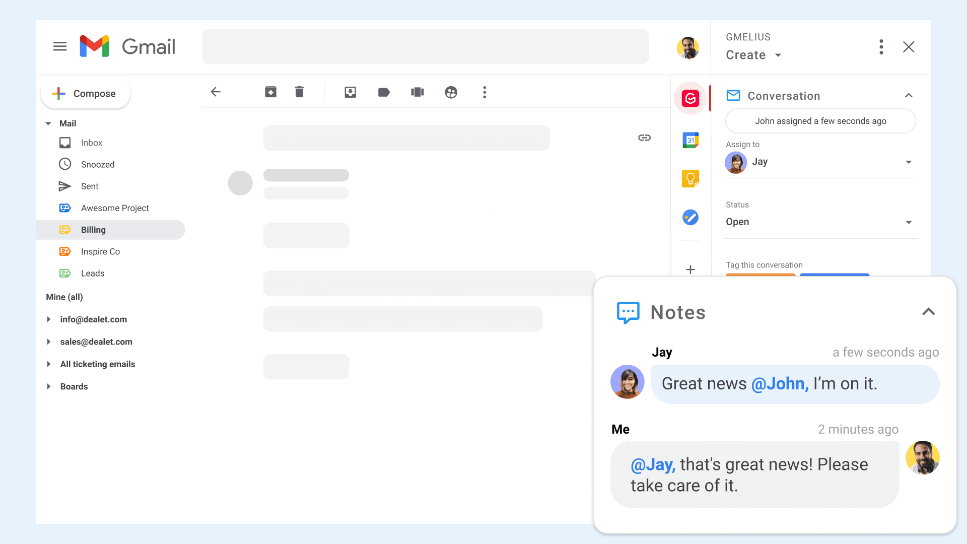 Email Notes in Gmail