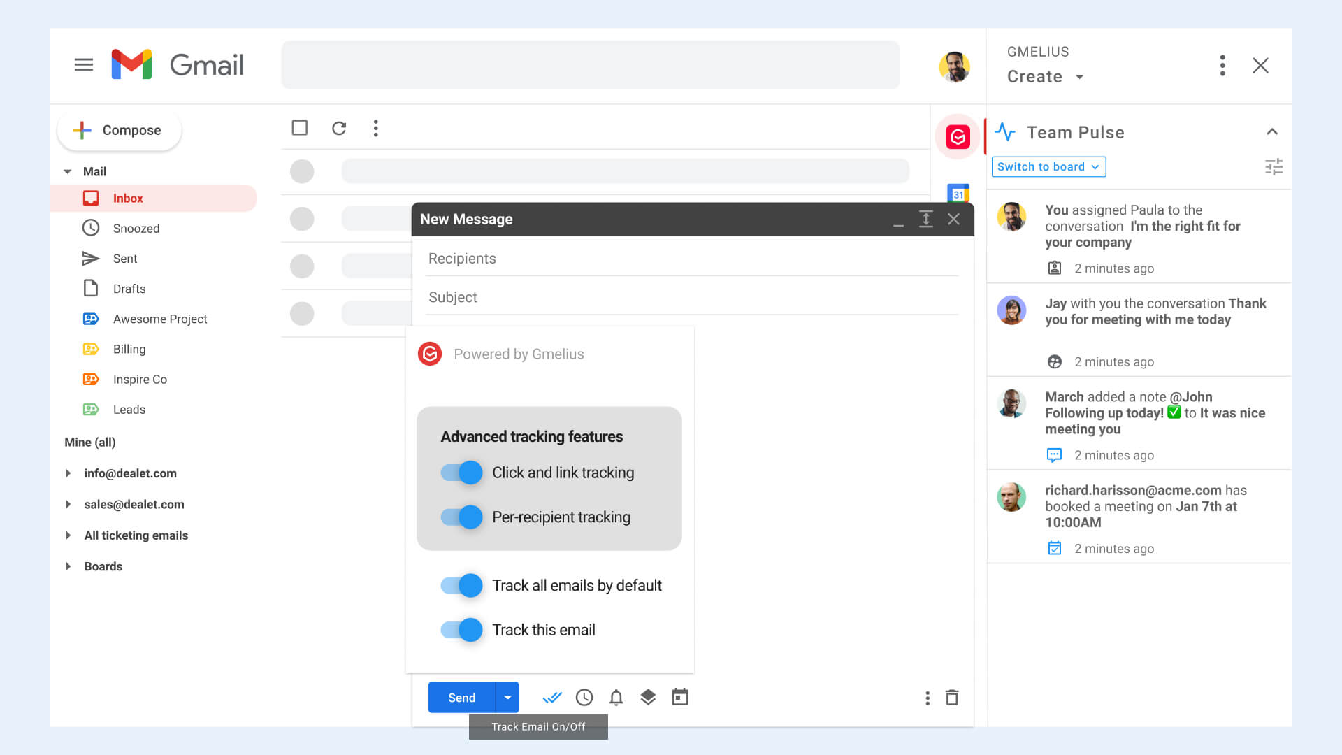 Tracking in Gmail