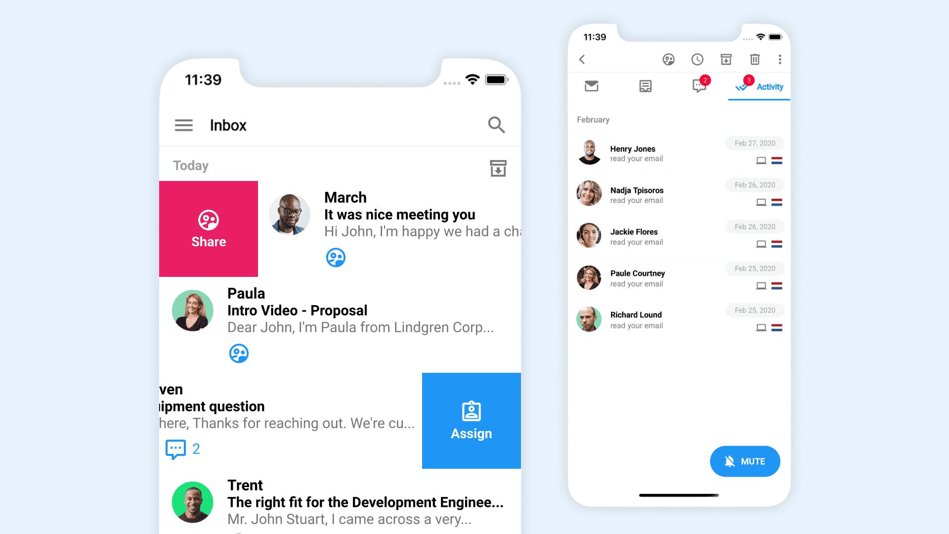 Gmelius Mobile App
