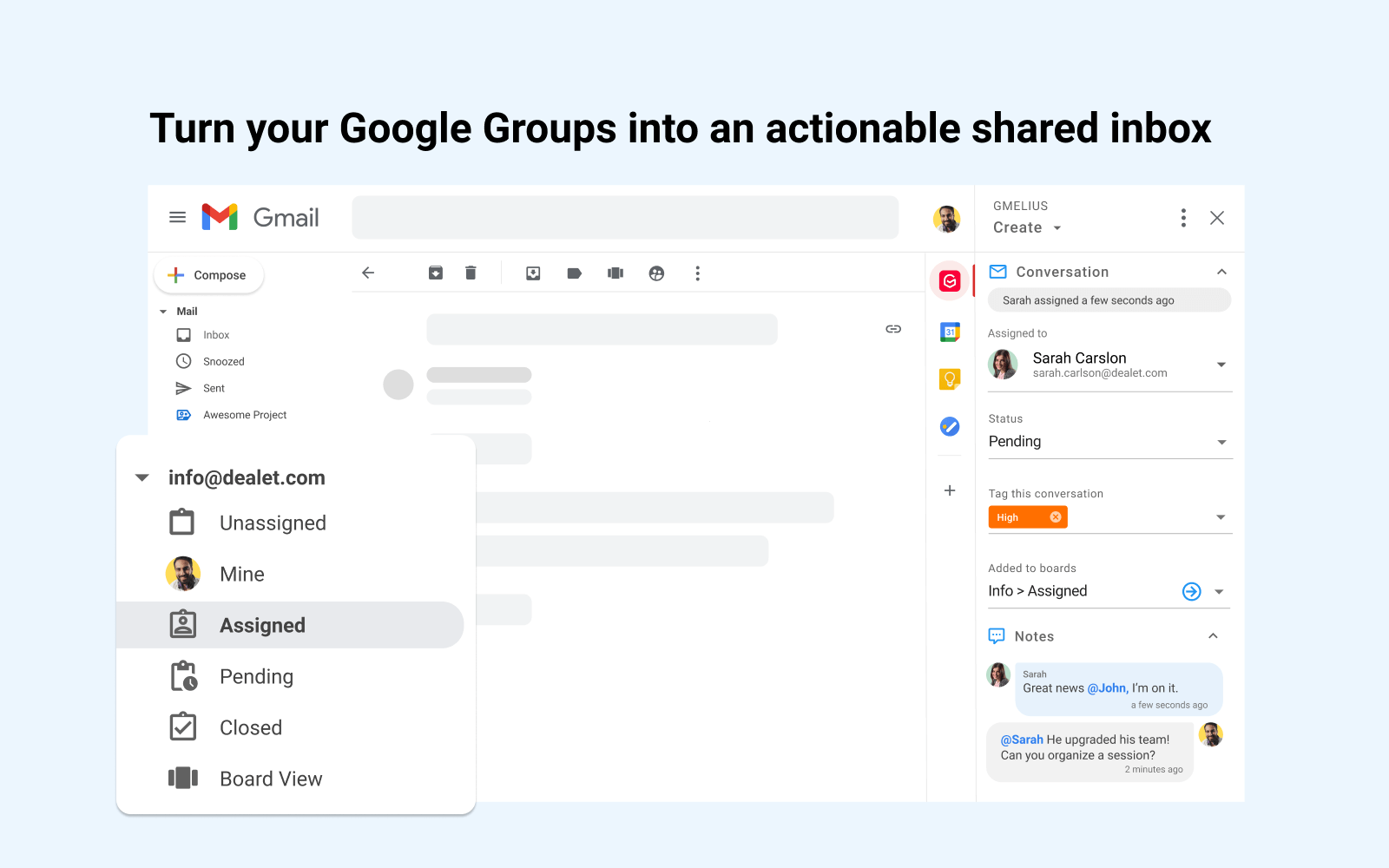 Turn your Google Groups into an actionable shared inbox