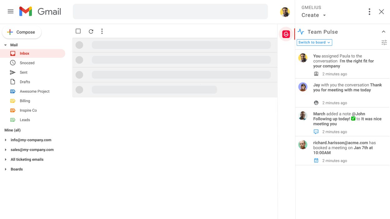 Shared Inbox in Gmail