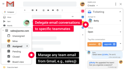 Shared inbox for G Suite