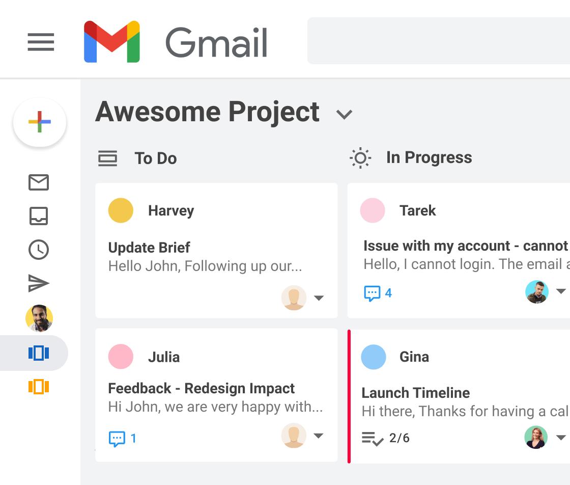 Kanban boards in Gmail
