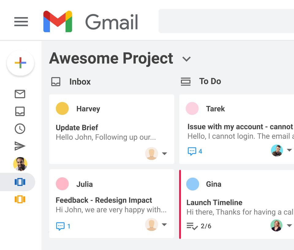 Tableaux Kanban dans Gmail