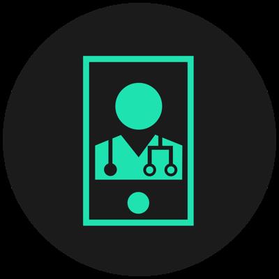 Spring Icon für ärztliche Überprüfung des Fragebogens