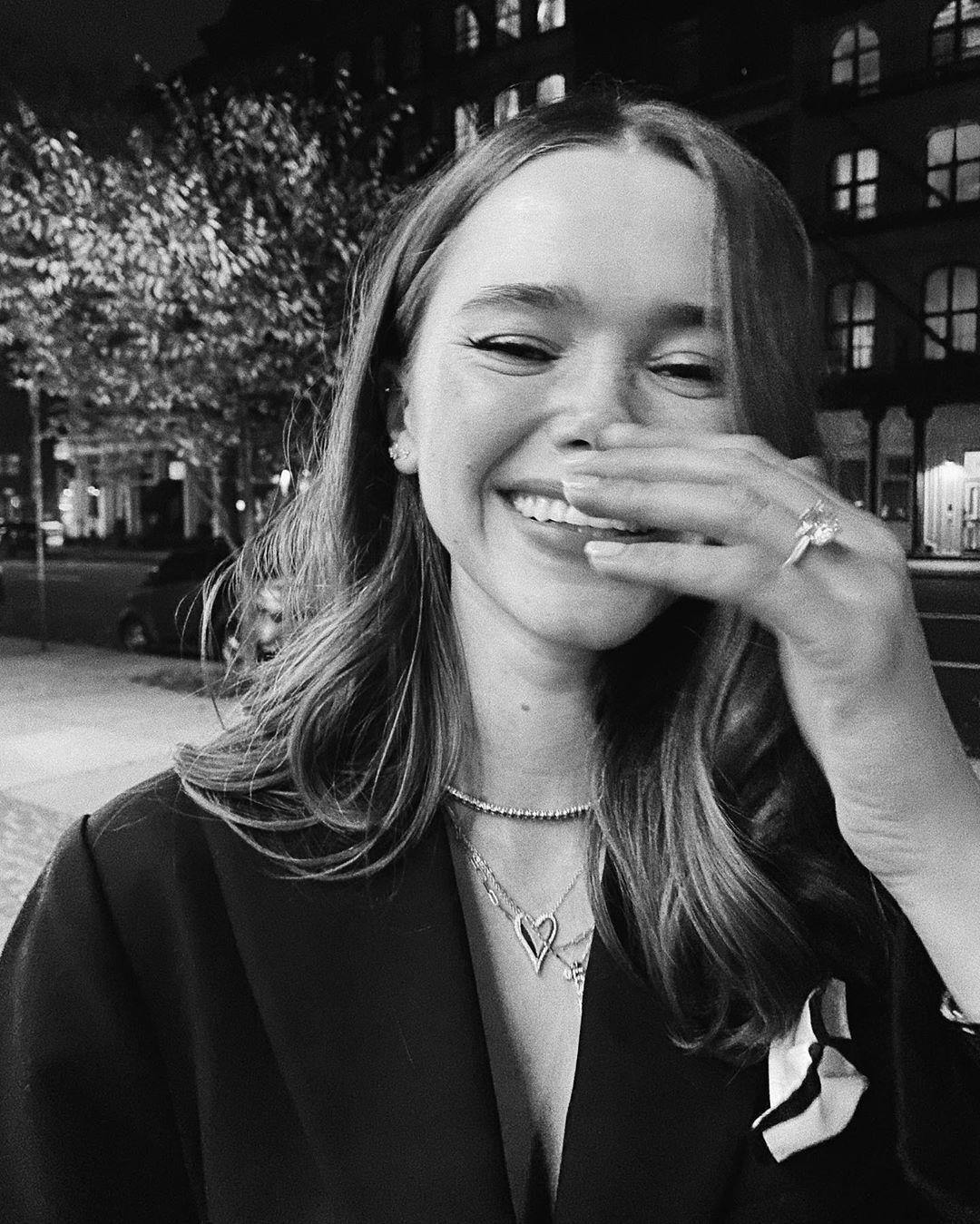 Valeria laughing