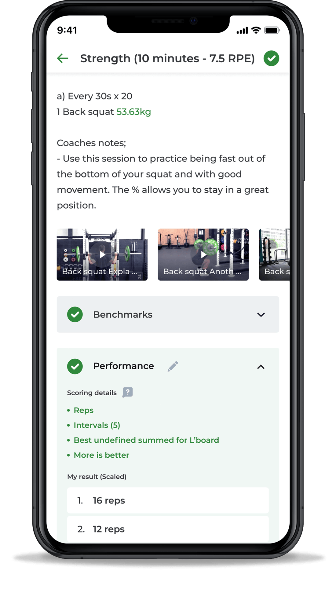 Tablet view of a personal trainer chatting with a group of clients in a single remote coaching platform