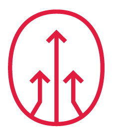 Icon of three upward traveling arrows.