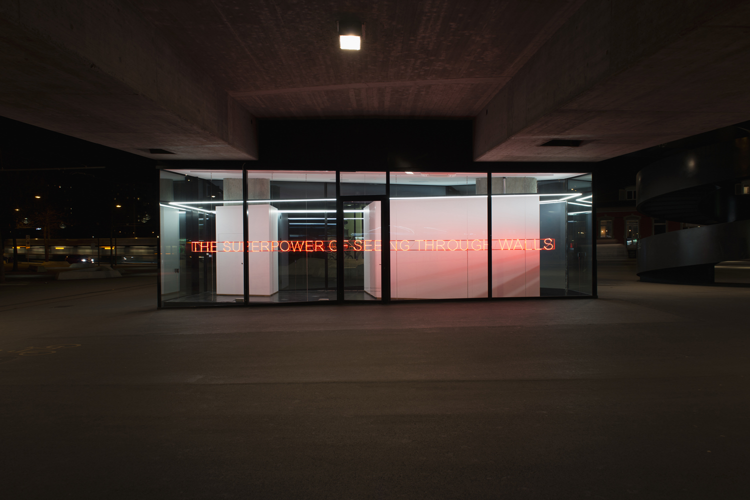 Tim Etchells, Open Mind, 2017. Installation view. VITRINE, Basel.  Photographer: Nici Jost