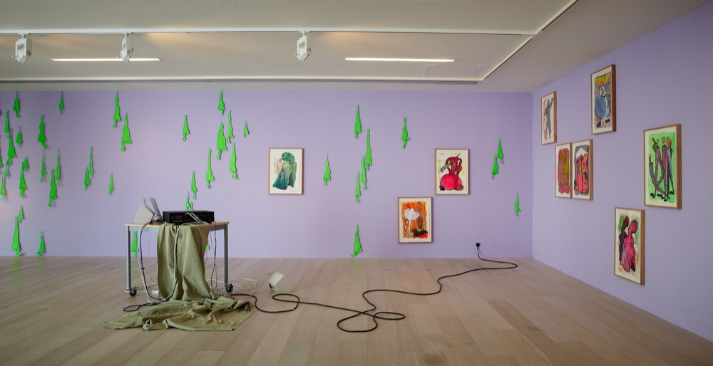 Edwin Burdis, Home Service, 2011. Installation view. Courtesy of Hayward Gallery, London, UK.