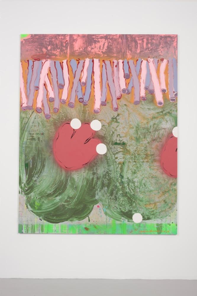Edwin Burdis, The Thickening 2, 2015. Gloss, acrylic paint and varnish. 160 x 200 x 3 cm.