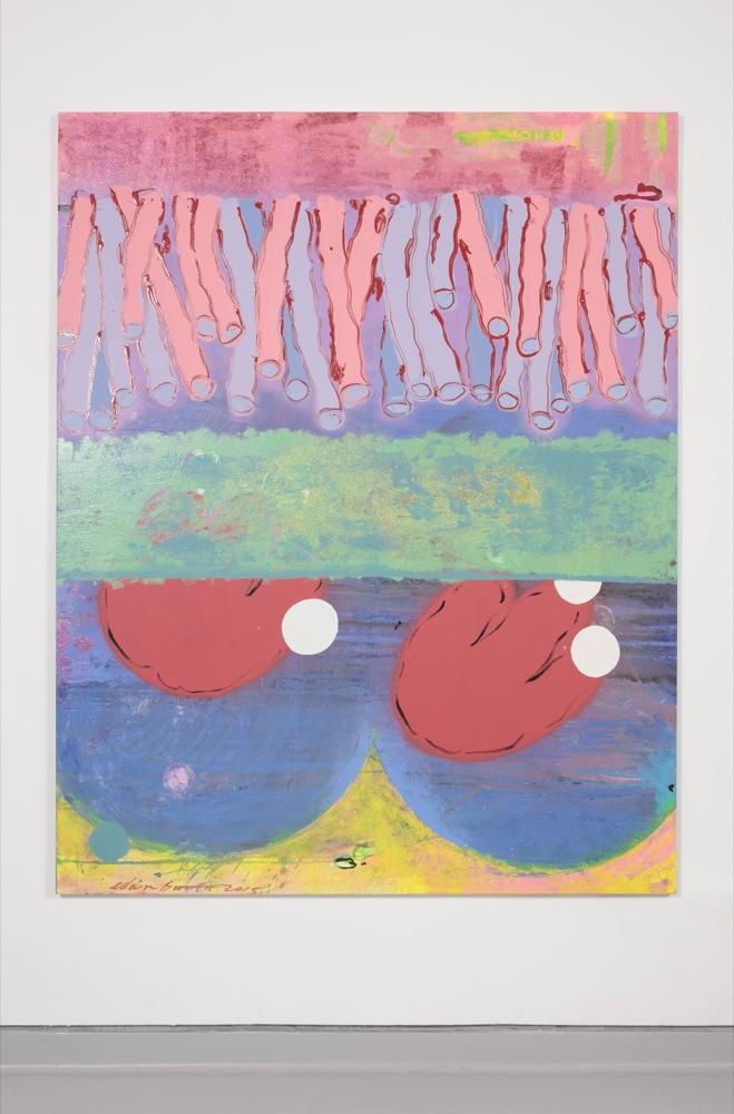 Edwin Burdis, The Thickening 3, 2015. Gloss, acrylic paint and varnish. 160 x 200 x 3 cm.