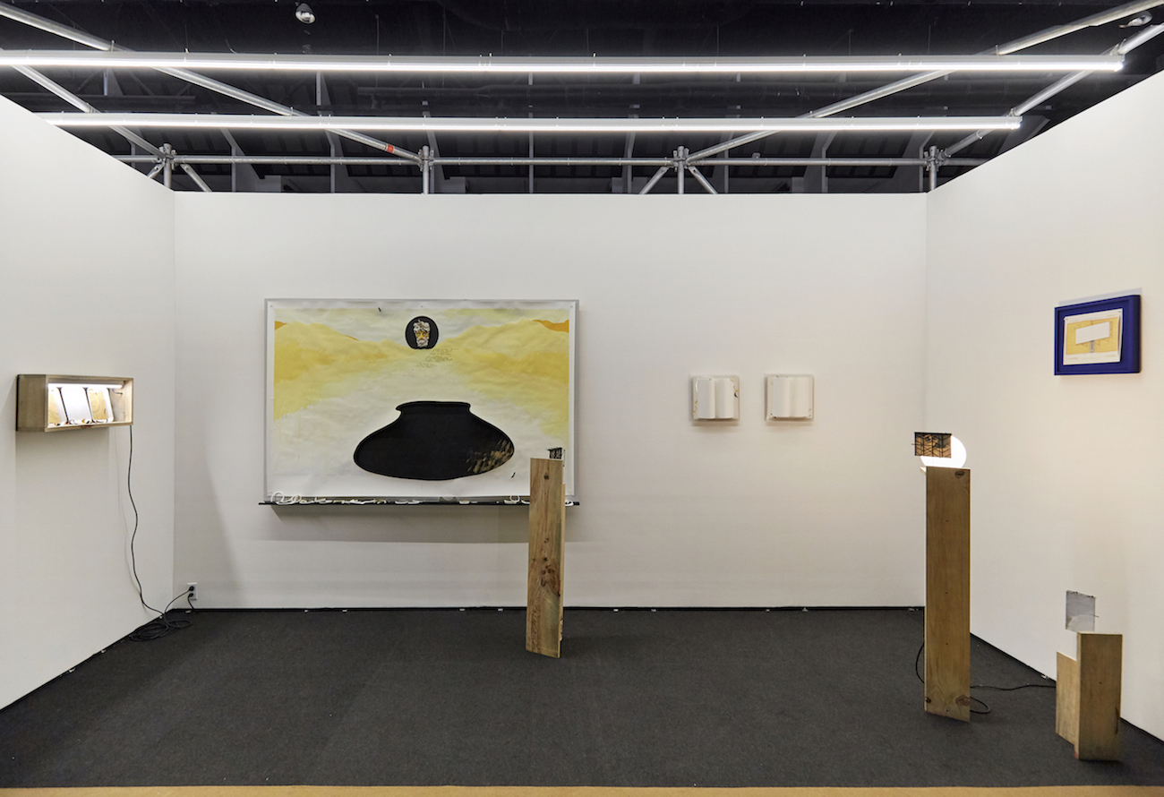 Charlie Godet Thomas, The Contents of a Long Unconsulted Pocket, 2020. Installation view. Material Vol.7, Mexico City, MX. Photographer: Sergio López.