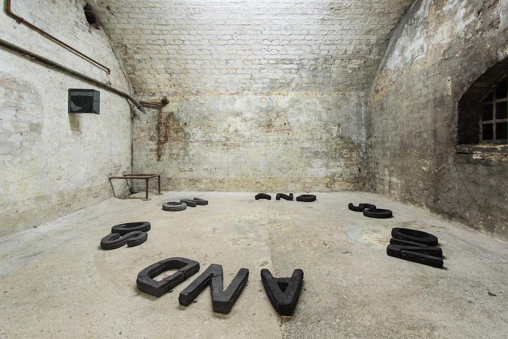 Charlie Godet Thomas, To the Core, 2018. Installation view. White Crypt, London, UK.