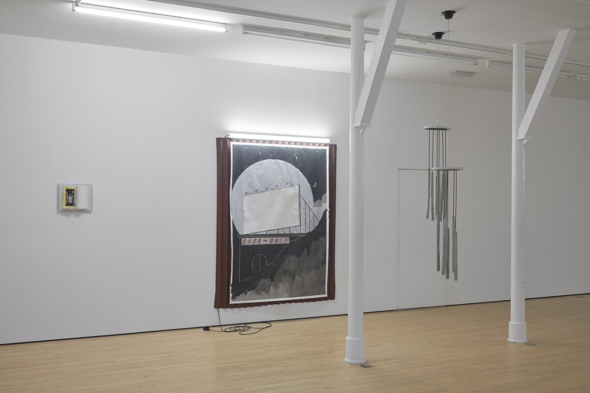 Charlie Godet Thomas, DIM LIT, 2019. Installation view. Assembly Point, London, UK.