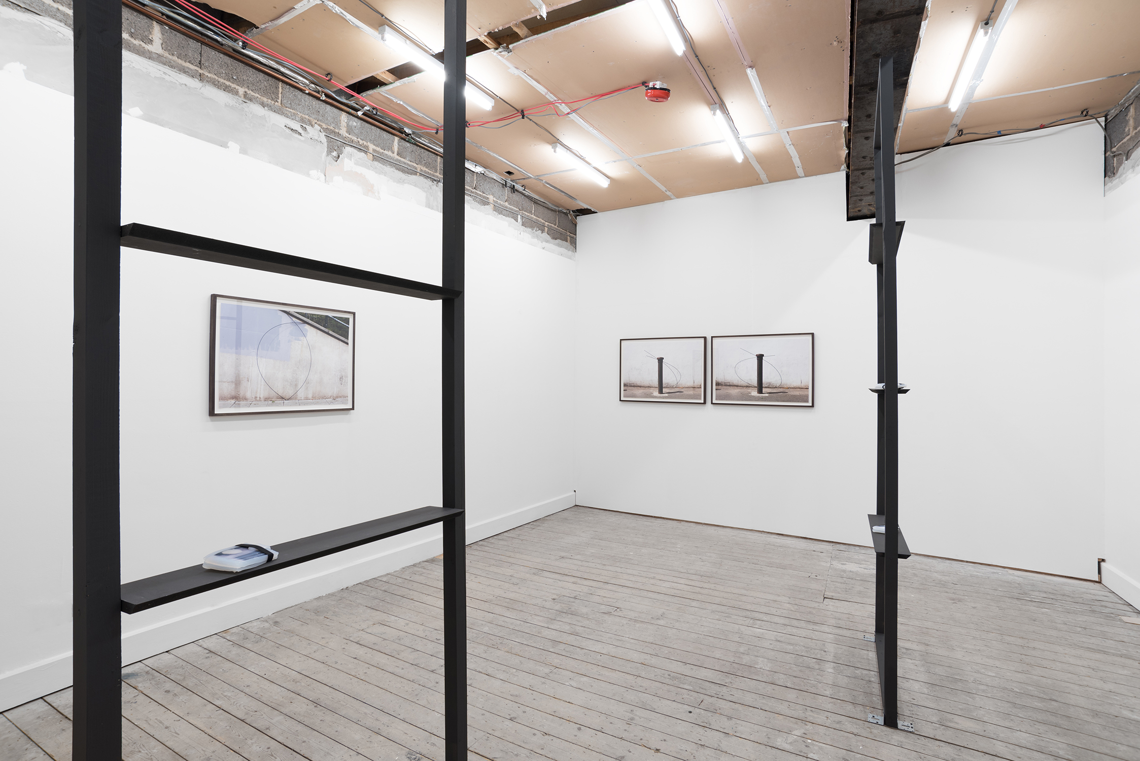 Charlie Godet Thomas, Strandline, 2016. Installation view. Set The Controls For The Heart Of The Sun, Leeds, UK.