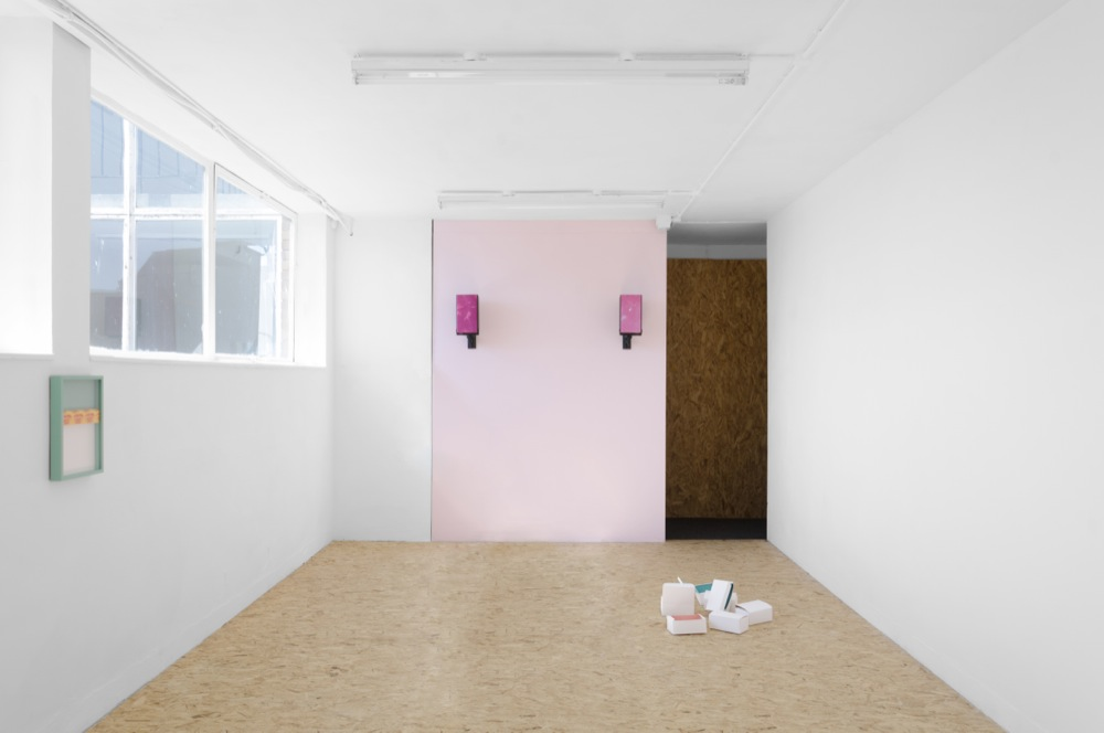 Charlie Godet Thomas, In Comes the Good Air, Out Goes the Bad Air, In Comes the Good Air, 2015. Installation view. Cactus Gallery, Liverpool, UK. Photographer: Harry Meadley.