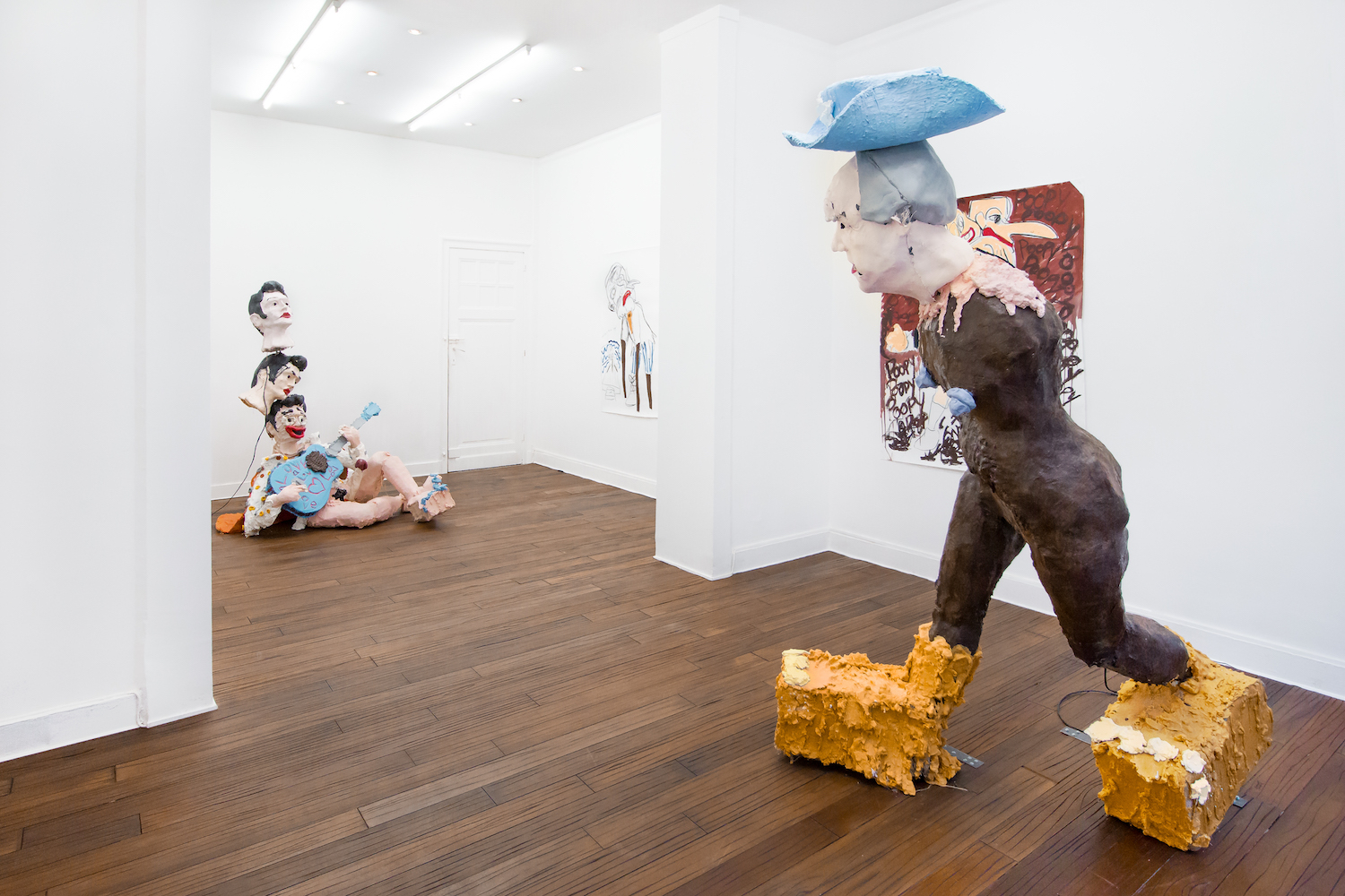Jamie Fitzpatrick, The Magician and the lover, 2020. Installation view. Deborah Bowman, Brussels, BE.