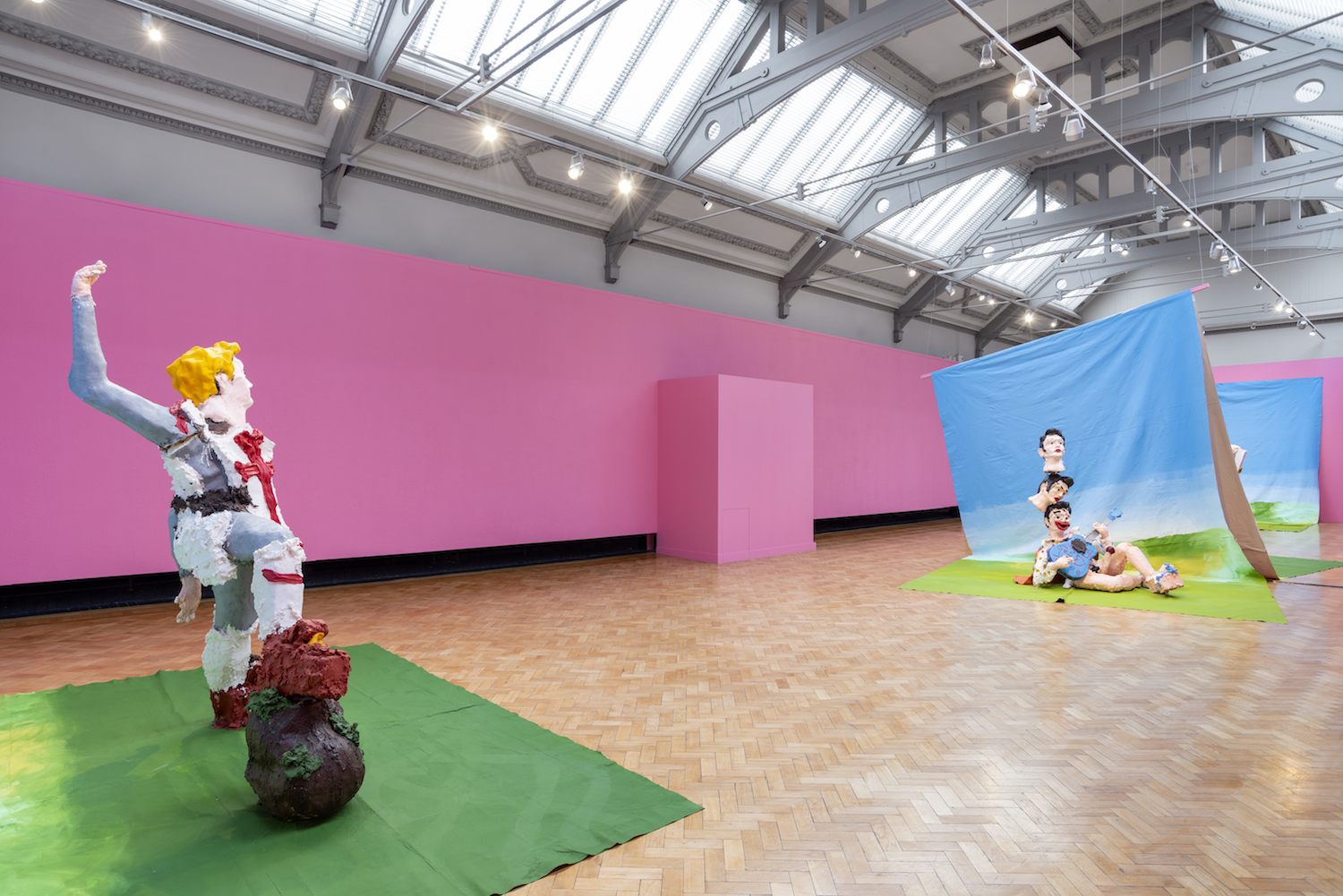 Jamie Fitzpatrick, He He He He, 2019. Installation view. Contemporary Forward at Touchstones Rochdale, UK. Photographer: Harry Meadley.