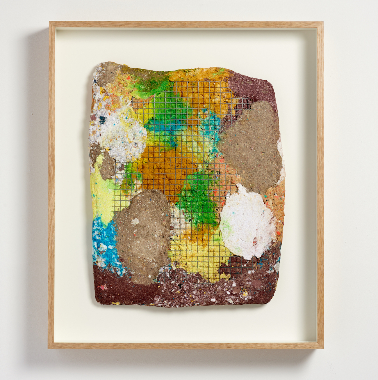 Ludovica Gioscia, Temporal Tablet 7, 2019. Mixed media*. Framed. 75 x 63.5 x 9 cm.