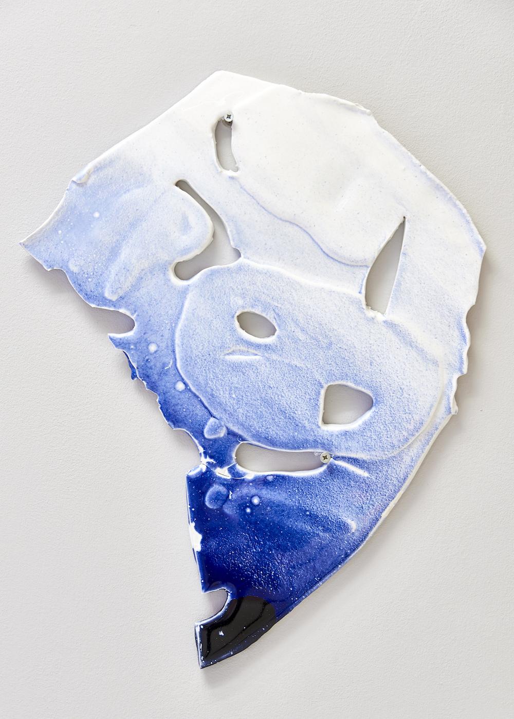 Ludovica Gioscia, La Luna Ci Guarda, 2017. Ceramic. 50 x 42 x 2 cm.