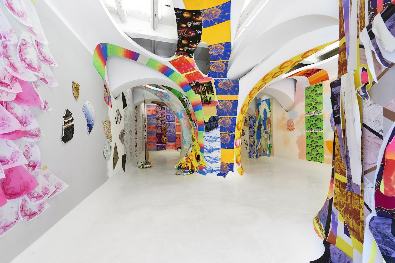 Ludovica Gioscia, Nuclear Reaction Cosmic Interaction, 2018. Installation view. Ex Elettrofonica, Rome, Italy. Photographer: Matteo D'Eletto.