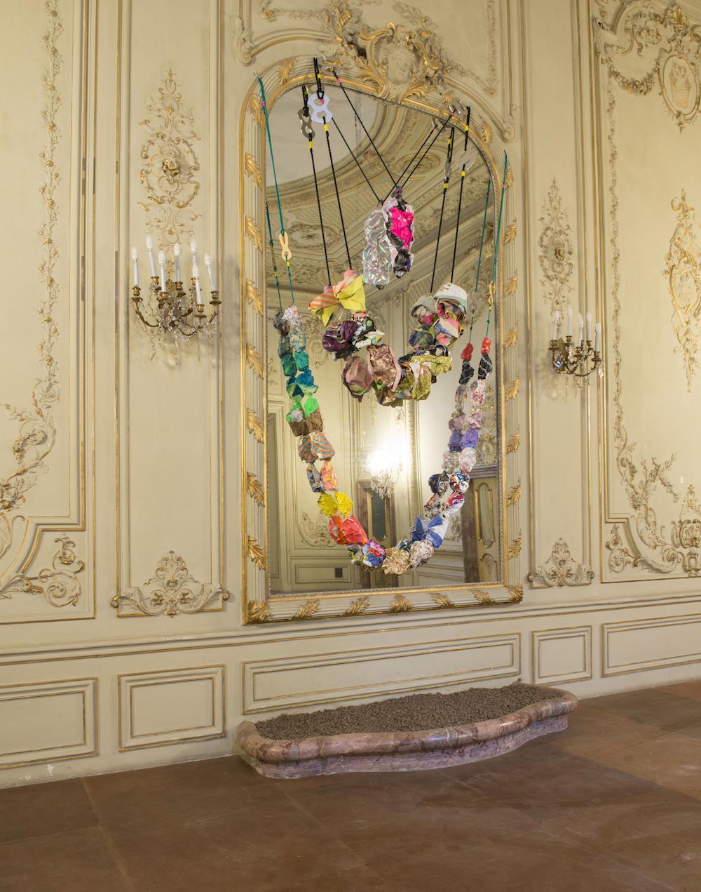 Ludovica Gioscia, L'Arte Che Accadra', 2016. Installation view. Palazzo Fiano, Rome, Italy. Photographer: Alessandro Dandini.