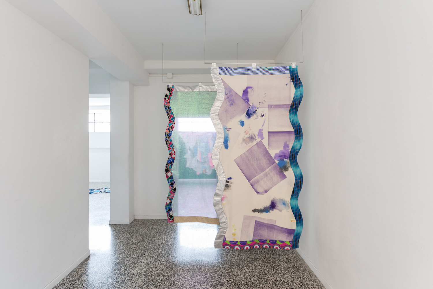 Ludovica Gioscia, The Peacock Stage, 2017. Installation view. t-space, Milan, IT. Photographer: t-space.