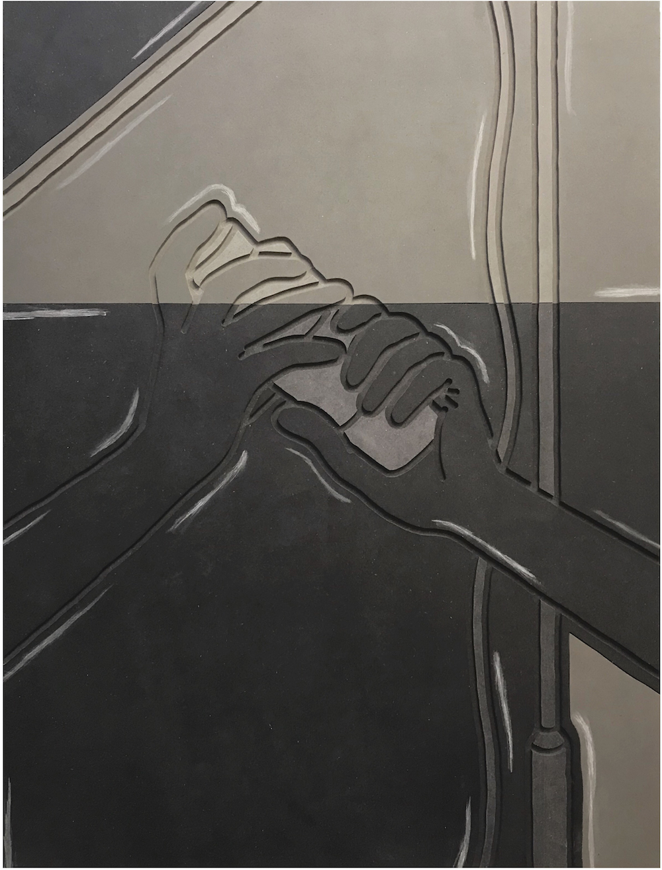 Milly Peck, Spot Effect: Mix, 2019. Valchromat. 78 x 59 x 5 cm.