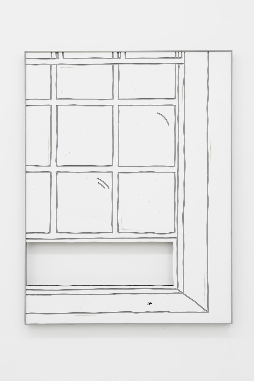 Milly Peck, Pressure Head 3, 2017. Emulsion on board. 10 x 84 x 5 cm.