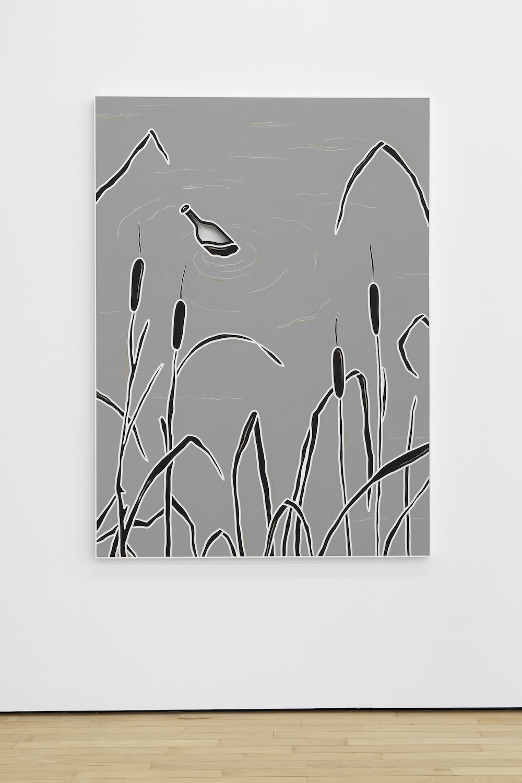 Milly Peck, Pressure Head 4, 2017. Emulsion on board. 150 x 110 x 3 cm.